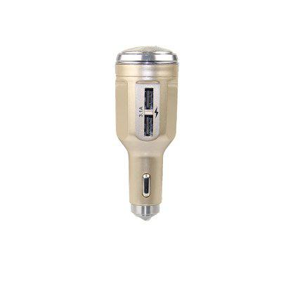 Multi-function Razor USB Car Charger with Safety HammerCar Charger<br>Multi-function Razor USB Car Charger with Safety Hammer<br><br>Apply to: MP4,MP3,Ipad Mini,iPhone 5/5S,Laptop Computers,Phones,Digital Cameras,Other AC and USB Appliances,iPhone 4/4s/iPod/iPad 2/The Nwe iPad,Samsung Phones,iPhone 4/4s/iPod/iPad 2/The New iPad<br>Apply To Car Brand: Acura,Aston Martin,Audi,Bentley,BMW,Bugatti,Buick,Cadillac,Chevrolet,Chrysler,Citroen,Daewoo,Dodge,Ferrari,Ford,GMC GMC,Honda,Hummer,Hyundai,Infiniti,Jaguar,Jeep,Kia,Lamborghini,Land Rover,Lexus,Linco<br>Color: Gold<br>Input ( Car Charger ): 12V<br>Output ( Car Charger ): 5V/2.1A<br>Package Contents: 1 x car charger, 2 x Manual<br>Working Temp.(?): -20-60 Deg.C