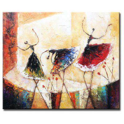 ART Hand-painted Vintage Modern Abstract Oil Painting Stretched Canvas 20 x 24 inch One Panel