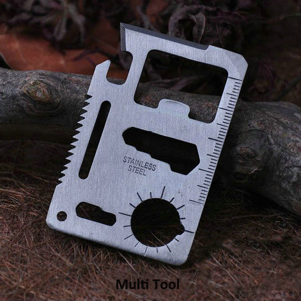 5 in 1 Multi-functional Outdoor Tools Stainless Steel Camping Survival EDC Kit P