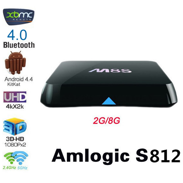M8s 4k Smart Tv Box Ap6330 Wifi Quad Core Amlogic S812 Android 4 4 2g Ram 8g Rom Hd Media Player Sale Price Reviews Gearbest