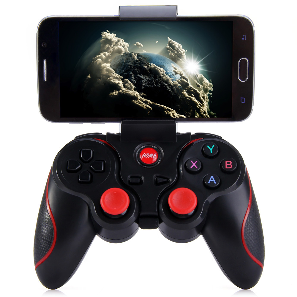 Color: White no holder Calvas T3 Android Wireless Bluetooth Gamepad Gaming Remote Controller Joystick BT 3.0 for Android Smartphone Tablet PC TV Box