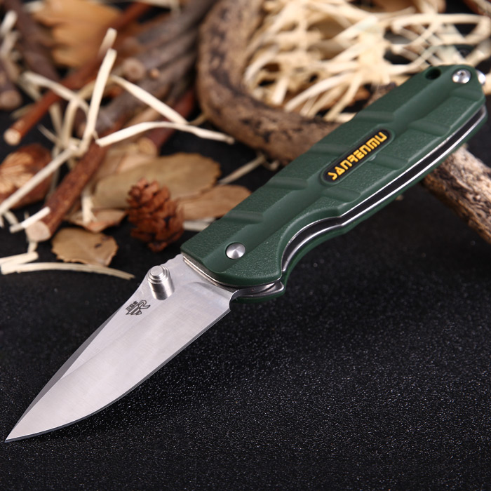 Sanrenmu 7092 LUX-PP Liner Lock Folding Knife - ARMY GREEN