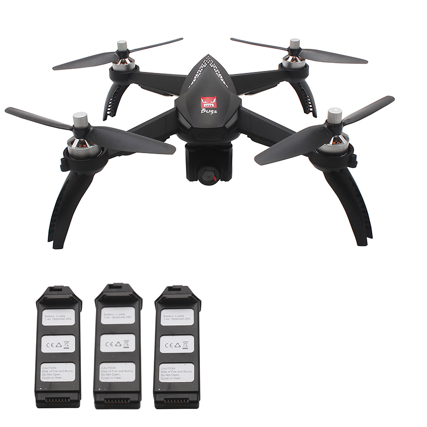 MJX Bugs 5W B5W Black 3 Batteries RC Quadcopters Sale, Price & Reviews | Gearbest