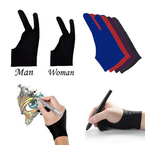 1pc Two Finger Anti-fouling Glove For Artist Drawing /& Pen Graphic Tablet Pc 0cn