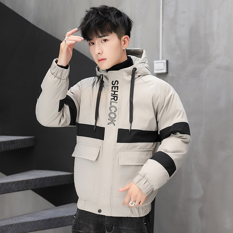 Men S Winter Coat Jacket Korean Tide Thick Winter Jacket Tooling Down Padded Winter Clothes Sale Price Reviews Gearbest