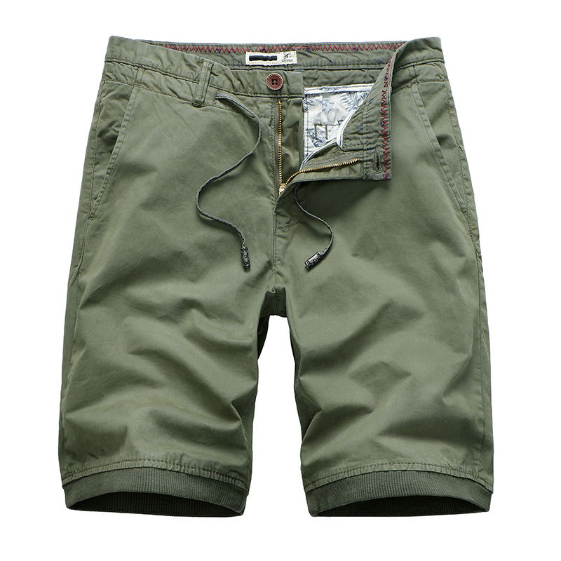 AIBAB Mens Five-Point Straight Shorts Washed Jeans Has Elasticity Comfortable and Breathable Summer