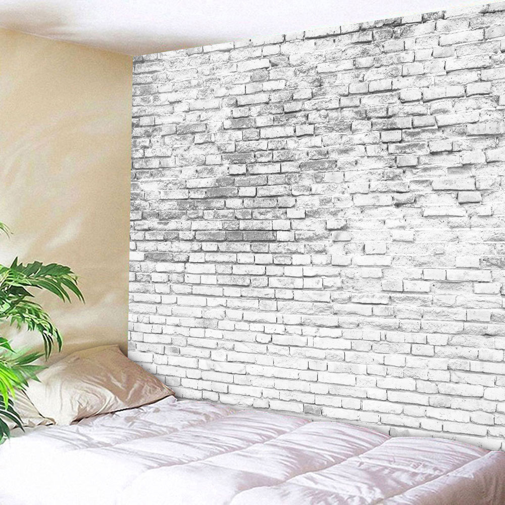 Colorful Stone Brick Tapestry Print Wall Hanging Tapestry Bedroom Art Decor USA