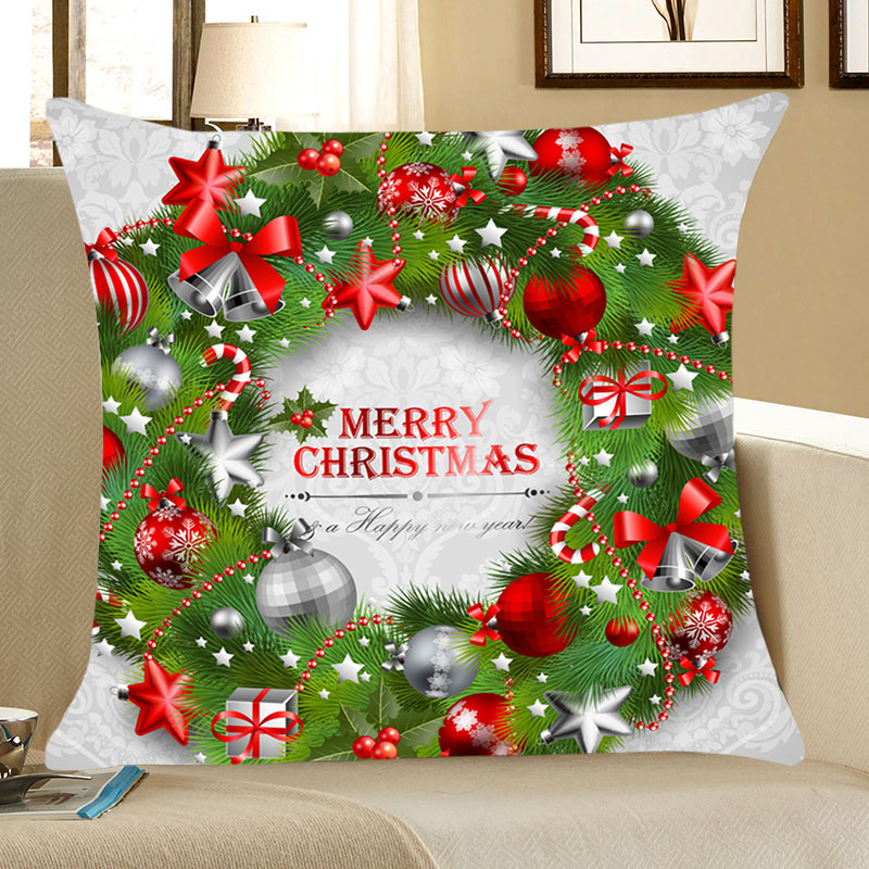 Christmas Decorations White and Green W18 inch * L18 inch Pillow Sale, Price & Reviews | Gearbest