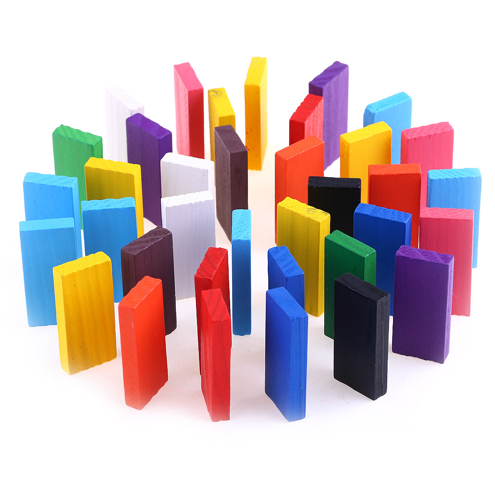 Dr.Pink 360 PCS Standard Wooden Colorful Domino Blocks Set,Toy Game,Racing Games
