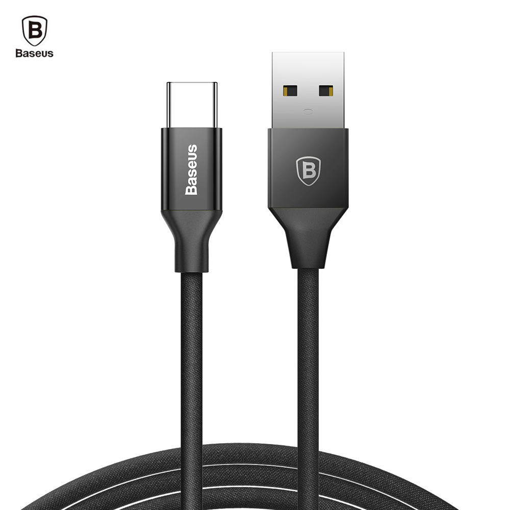 Baseus Type-C Cable 3A Fast Charging Sync Data Cord 1.2M Black Chargers & Power Adapters Sale, Price & Reviews | Gearbest
