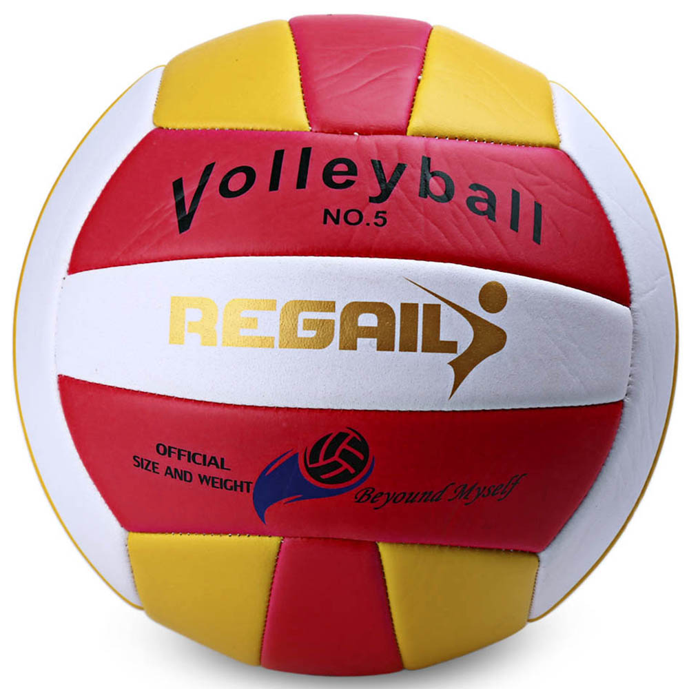 Regail Official Weight Size 5 PU Laminated Volleyball - PINK