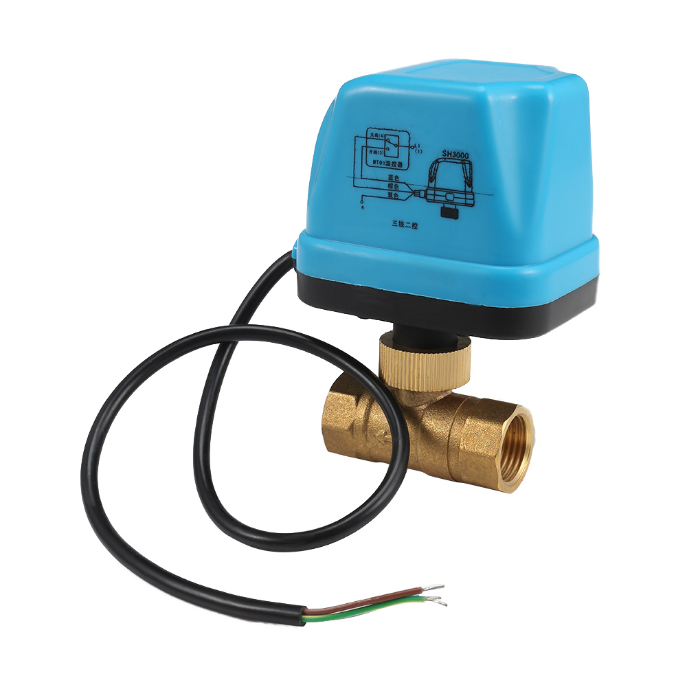 Motorized Valve 3//4 Ball Valve for Air Conditioning Systems Solar Water Heater Heating Floor Heating Systems Brass Ball Valve 6W Electrical Ball Valve