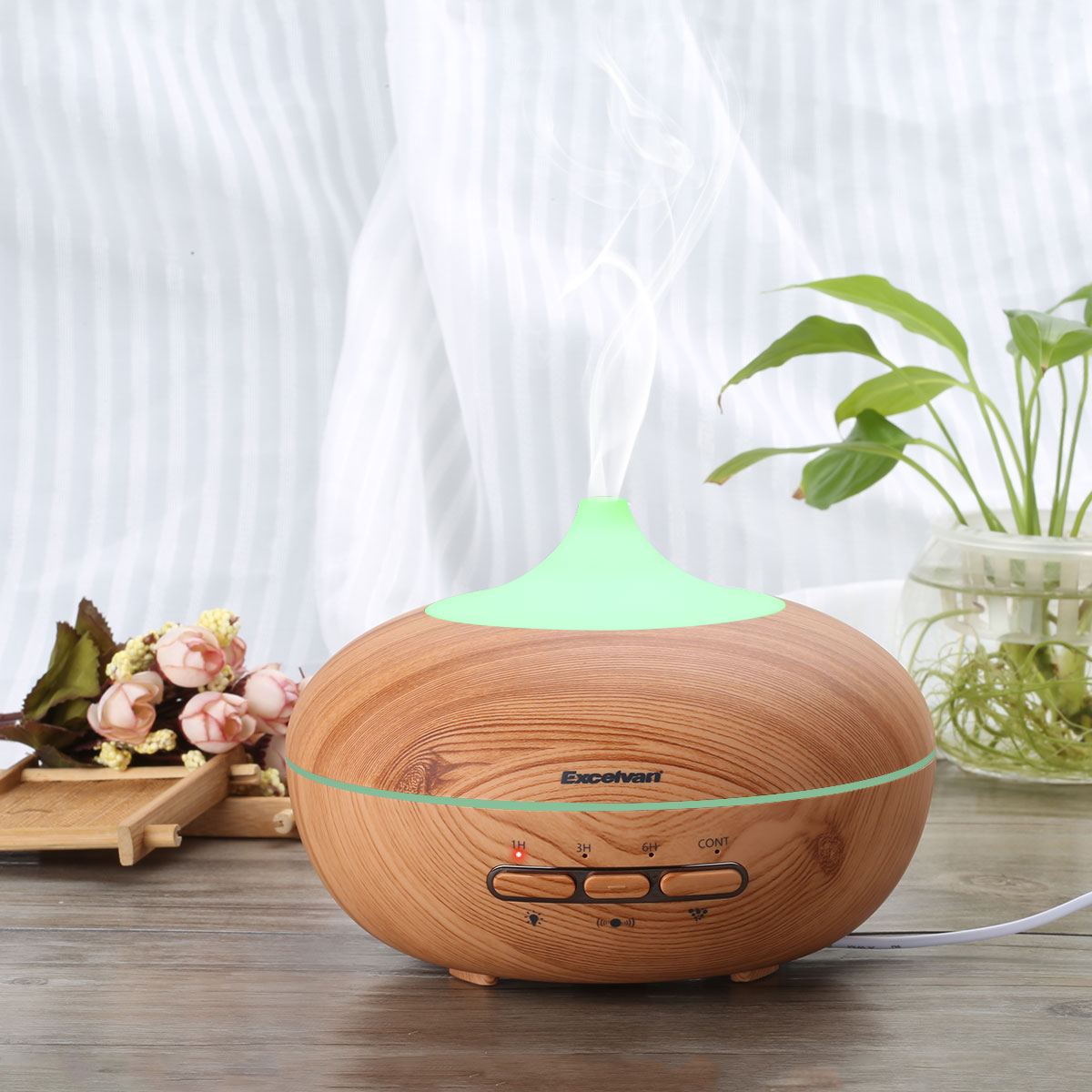 500ML Air Humidifier Star Projection Diffuser Ultrasonic Aroma Mist Purifier Essential Oil Purifier Portable Air Cleaner Night Light Great for Home Office Bedroom
