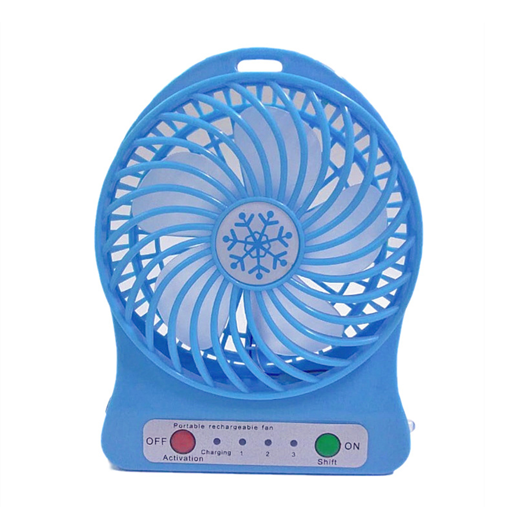 Mute and Windy Color : Blue Rechargeable Portable Blue Handheld Pink KONGZIR  Mini Fan Green