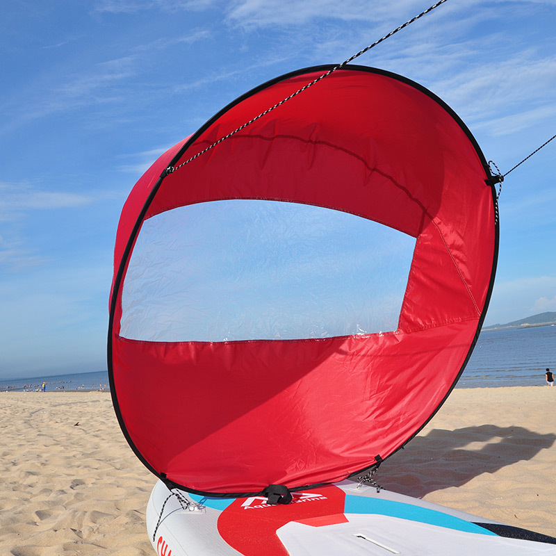 42'' Foldable Kayak Boat Wind Sail UV Prevention Canoes Inflatables Boats - RED