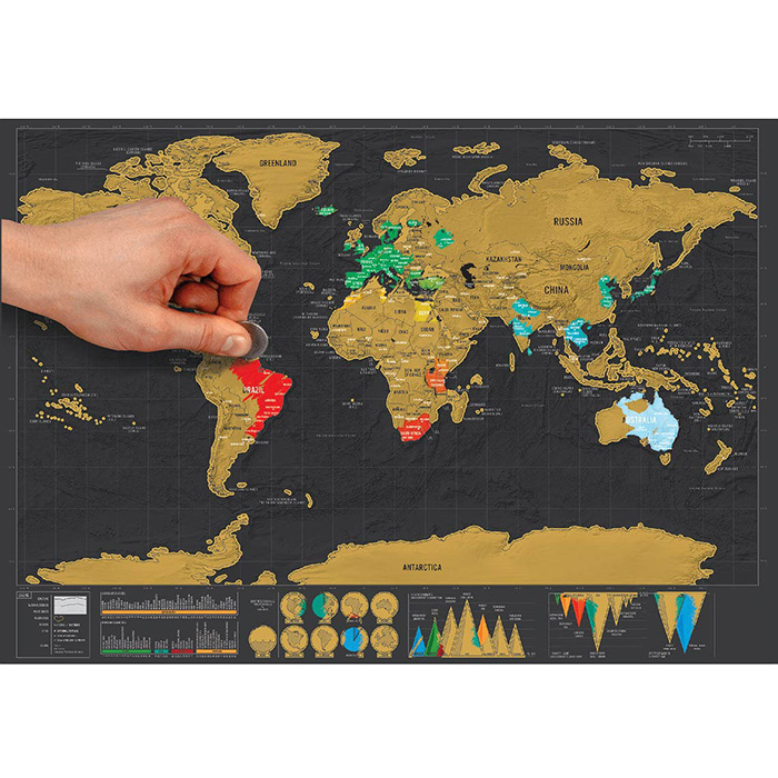 Large Size Personalized Scratch-off World Map Poster Travel Toy - 16.6 x 11.8 inch Sale, Price & Reviews | Gearbest