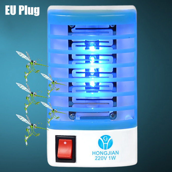 Mosquito Killing LED Lamp Blue and White EU Plug Other Home Improvement Sale, Price & Reviews | Gearbest