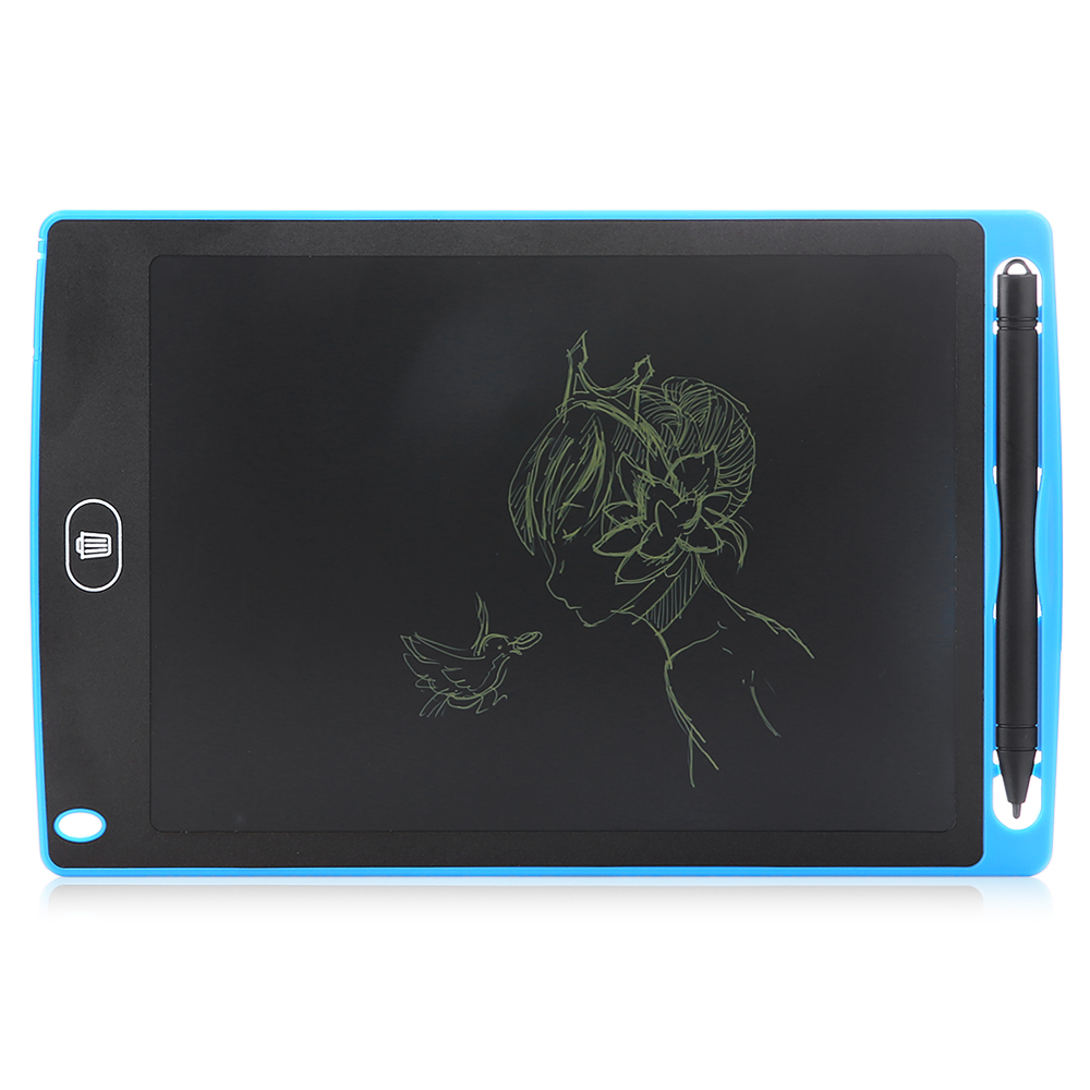 Digital Drawing Board Drawing Accessories 8.5-inch LCD Writing Tablet Color : Blue Supports One-Click Clear /& Local Erase Black