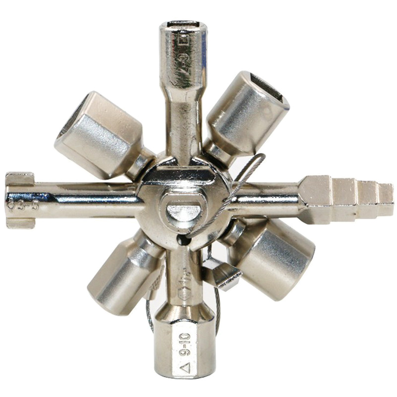 Universal Multifunctional Square Triangular Cabinet  4 IN 1 Key Cross Wrench ^/&