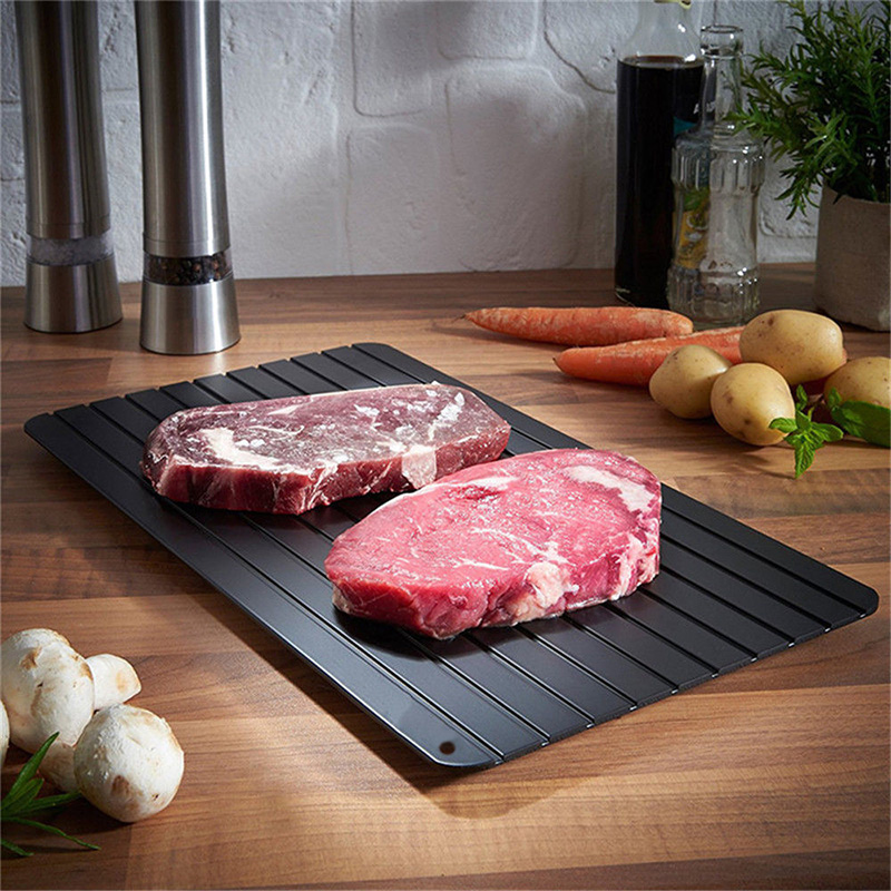 Non-stick Kitchen Fast Defrosting Tray Black Home Gadgets Sale, Price & Reviews | Gearbest
