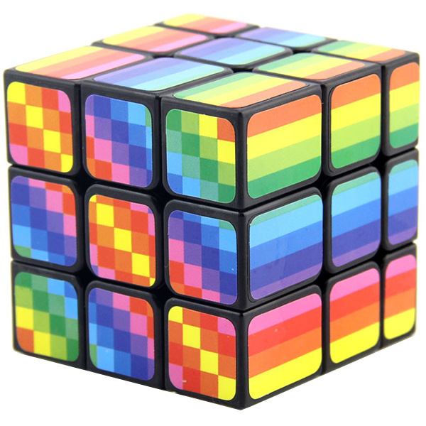 3x3 Speed Multi-Color Rainbow Mirror Cube Kids Puzzle Game Intelligence Toy
