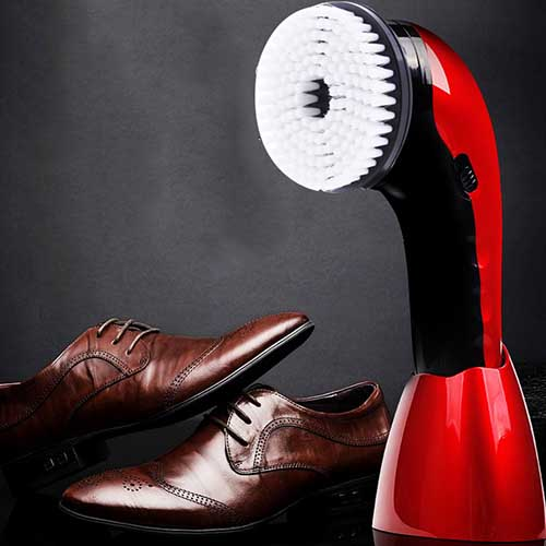 AE - 710 Portable Multifunctional Shoe Cleaner Care Machine Electric Polisher - RED