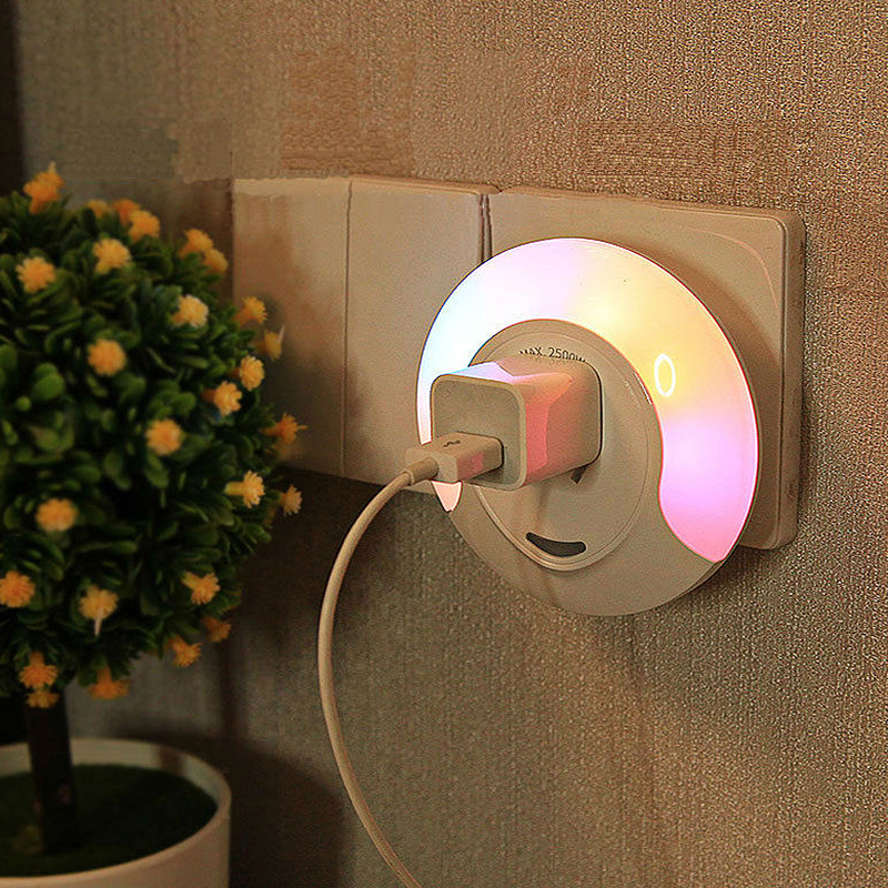 Smart Led Colorful Socket Bedroom Night Light Sale Price Reviews Gearbest