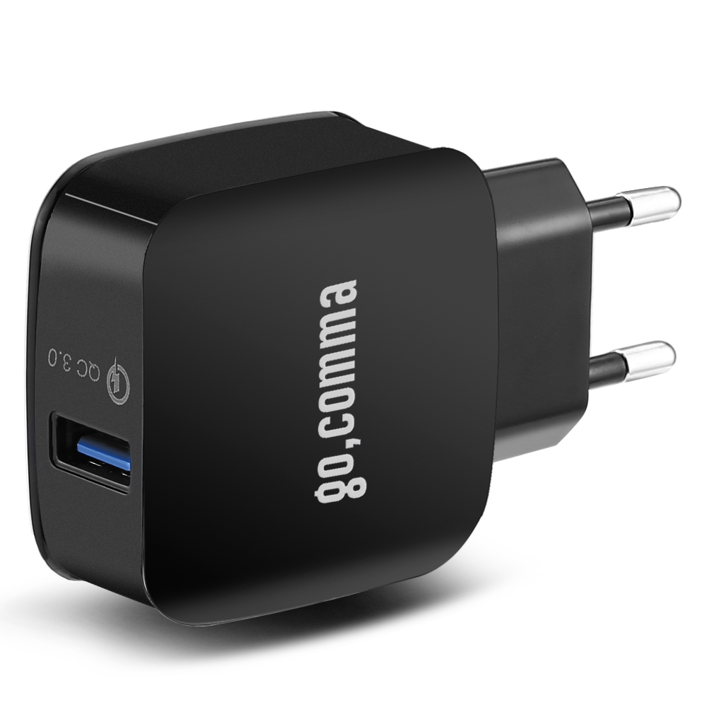 Gocomma QC 3.0 Power Adapter Charger Black EU Plug Chargers & Power Adapters Sale, Price & Reviews | Gearbest