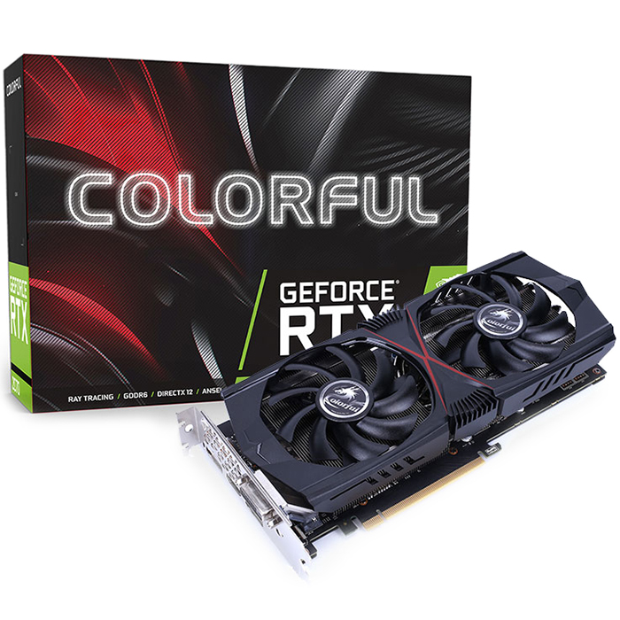 Colorful GeForce RTX 2060 Gaming GT V2 6G Nvidia Graphics Card - BLACK