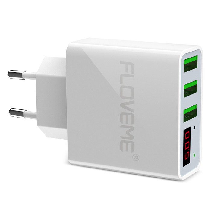 FLOVEME Smart Digital Display USB Charger White Chargers & Power Adapters Sale, Price & Reviews | Gearbest