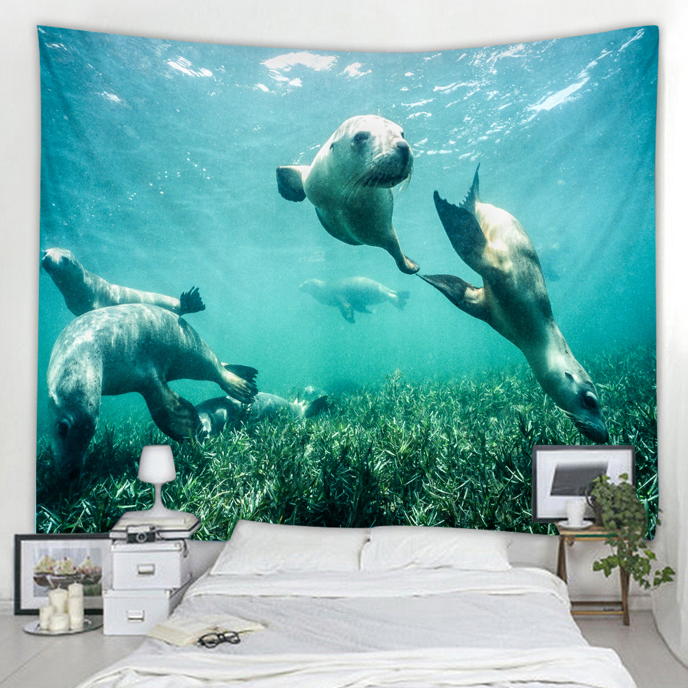Dolphin Diving Pattern Tapestry Home Decoration Sale Price Reviews Gearbest