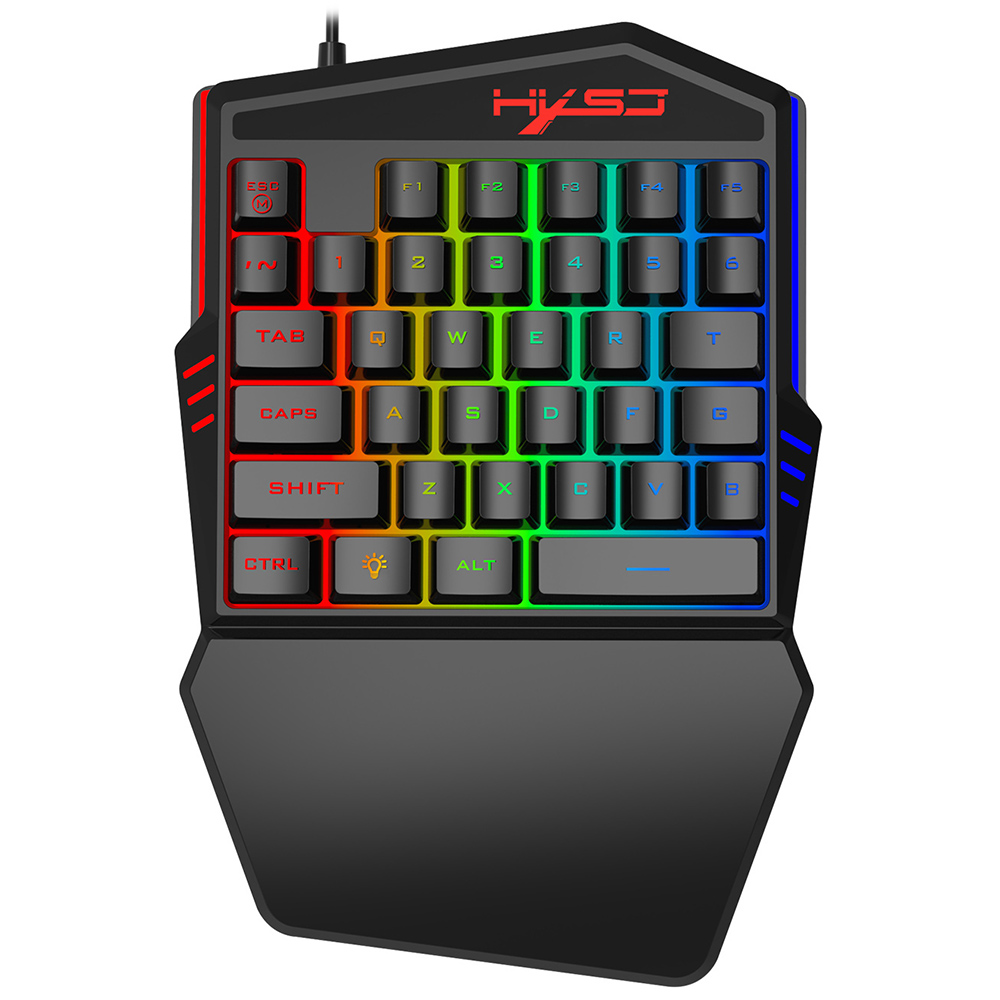 Androed Win XP//ME,Vista,Win// 8 Linux Single Hand Keyboard,HXSJ Mechanical Single Hand Gaming Keyboard 35 Keys Single Hand Keypad with FN Keys,Gaming Mini Keypad for Win 2000 etc. Apple