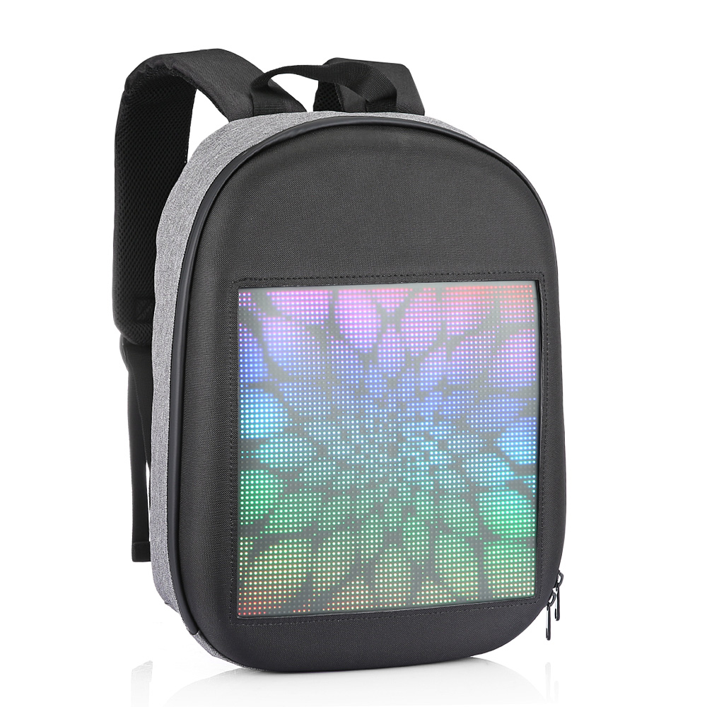 WIFI Version Smart Led Dynamic Backpack Gray Backpacks Sale, Price & Reviews | Gearbest