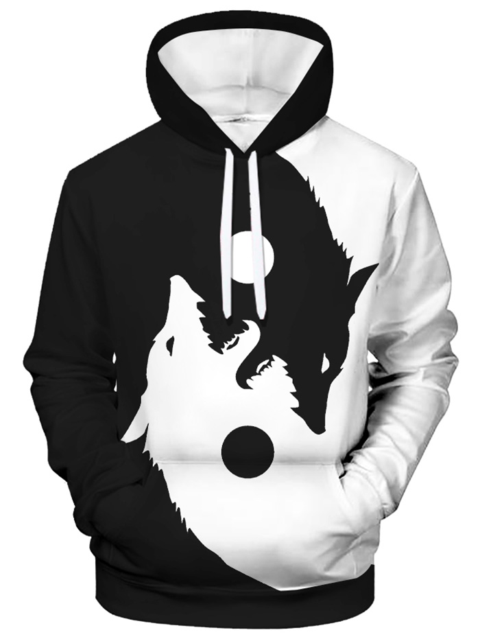 Jusxout Mens Hoodie Sweatshirt Cotton Pullover Hooded Microphone and Headphones