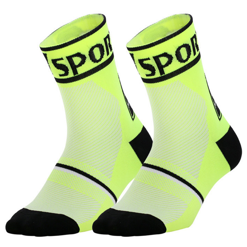 Mens Fashion Performance Polyester Socks Yellow And Pink Roses Casual Athletic Crew Socks.