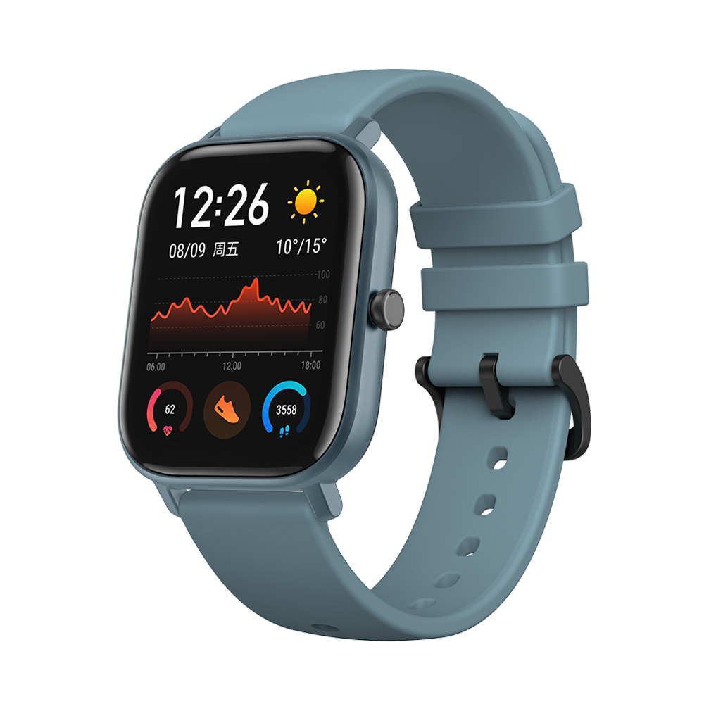 AMAZFIT GTS 1.65 inch AMOLED Display GPS Smart Watch 12 Sports Mode 5ATM Waterproof 14 Days Battery Life Global Version   Xiaomi Ecosystem Product    Blue