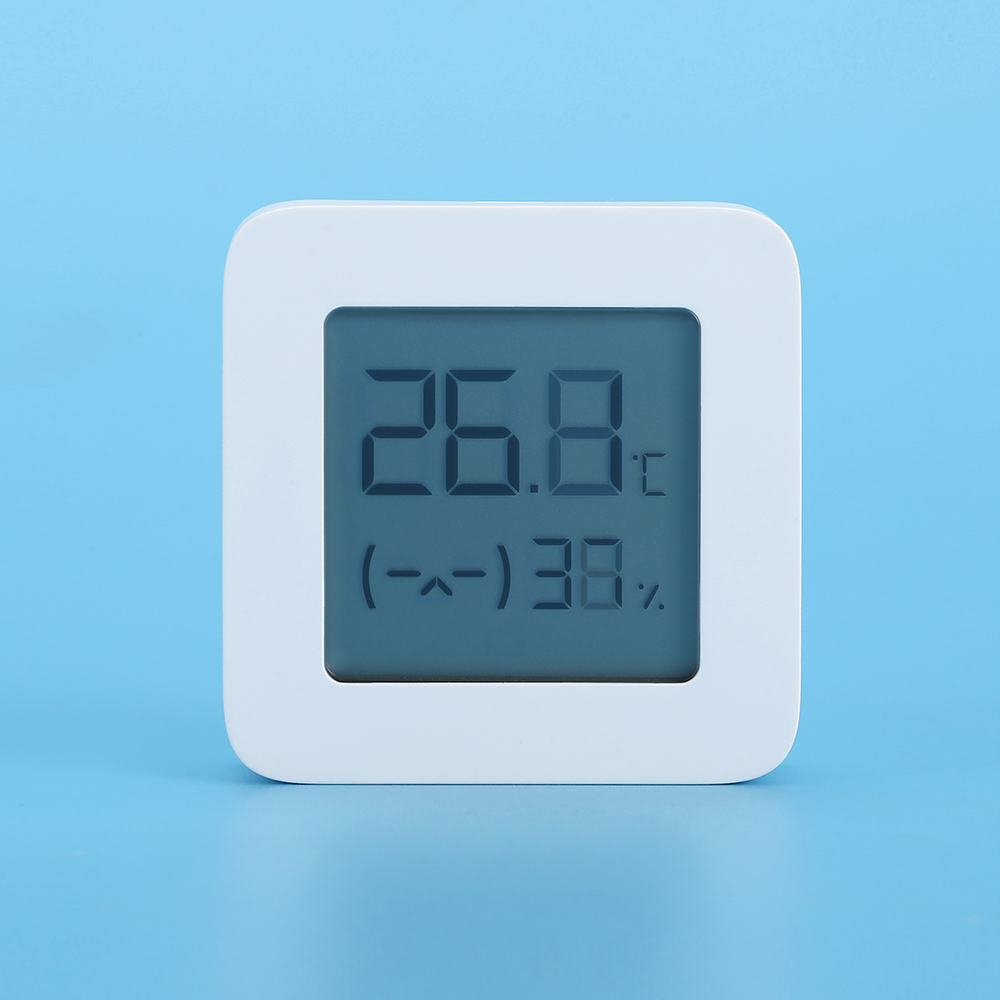 Mijia LYWSD03MMC Bluetooth 4.2 Household Thermometer Hygrometer Second Generation Wireless Smart Electric Digital Display Intelligent Linkage Baby Mode Work with Mijia APP - White 1pc