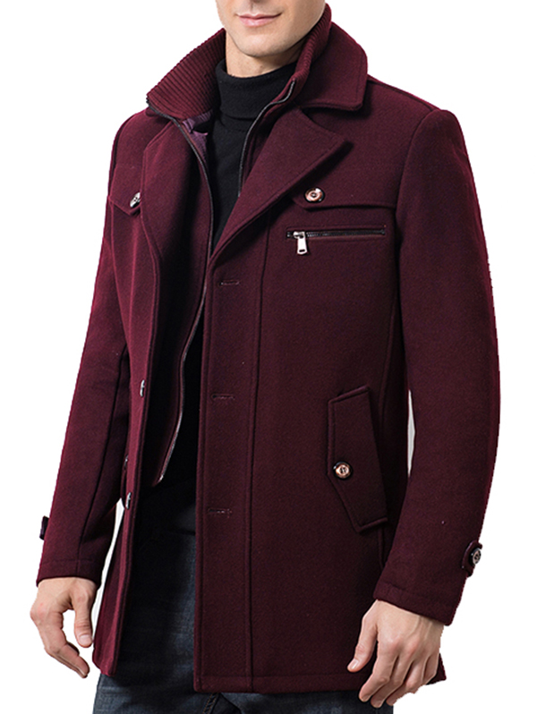 Mens Korean Loose Fit Hooded Casual Coat Thick Cotton Padded Jacket Work Peacoat