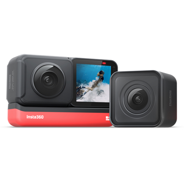 Insta360 ONE R 5.7K Panoramic Action Camera 4K 60fps Wide Angle FlowState Anti shake IPX8 Waterproof Ultra HD Sports DV