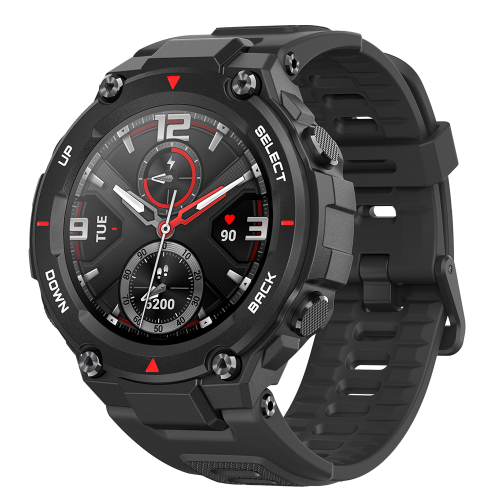 Amazfit T Rex Outdoor Smart Watch 1.3 inch AMOLED Color Screen 20 Days Battery Life 5 ATM Waterproof 14 Sports Modes 12 Military Certifications Dual GPS System Global Version