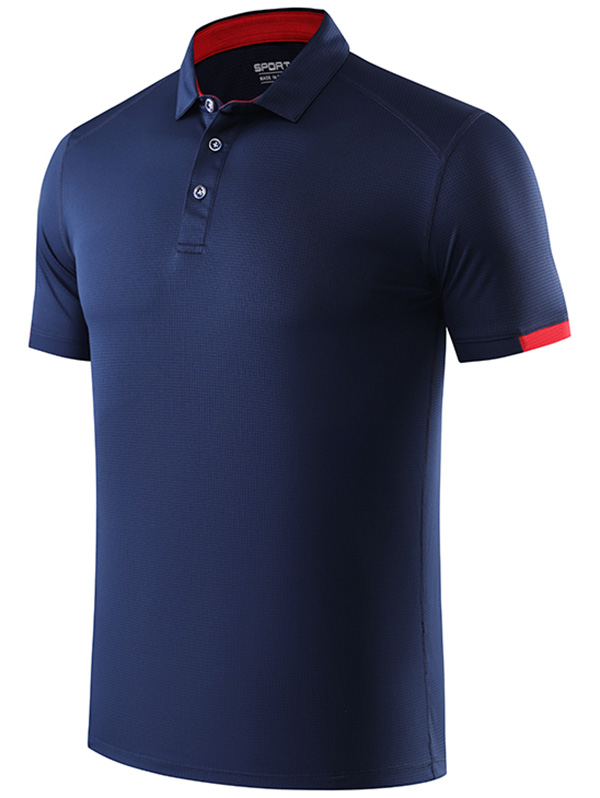 Mens Skeloton Fish Embroidered Knit Striped Short Sleeve Polo Shirts