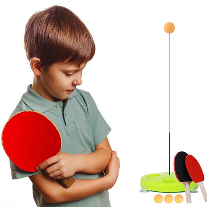 Elastic Soft Shaft Table Tennis Kit Pingpong Trainer Students Home Sport Toy Set