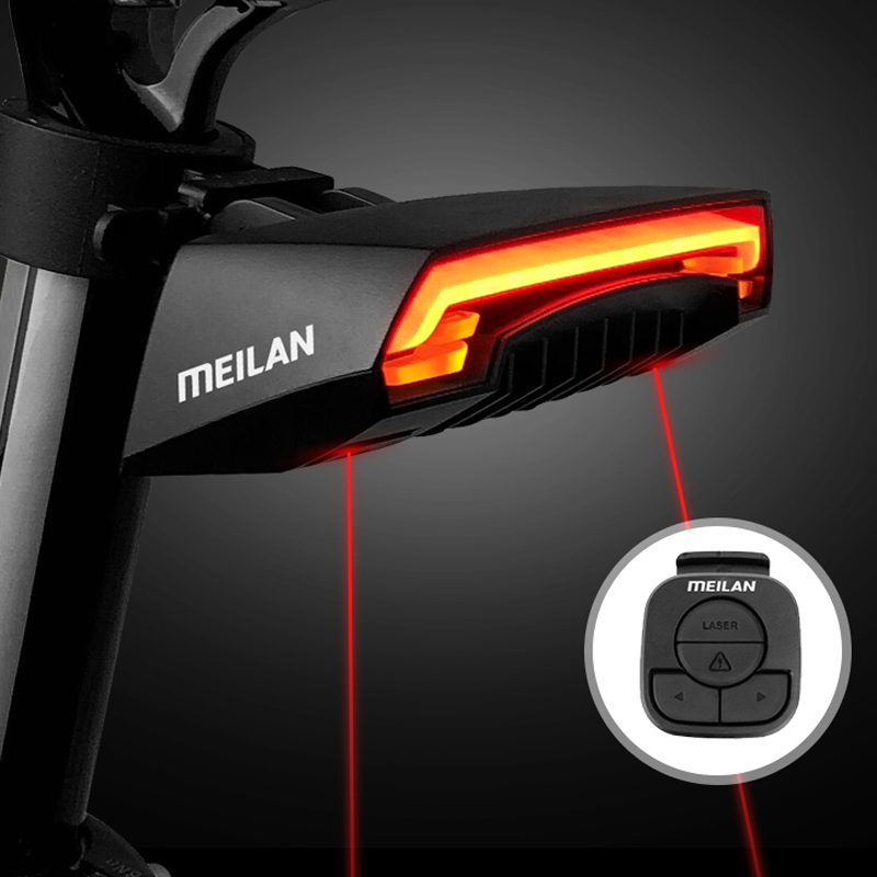 NewLED USB Rechargeable Bike Tail Light Bicycle Safety Cycling Warning Rear Lamp