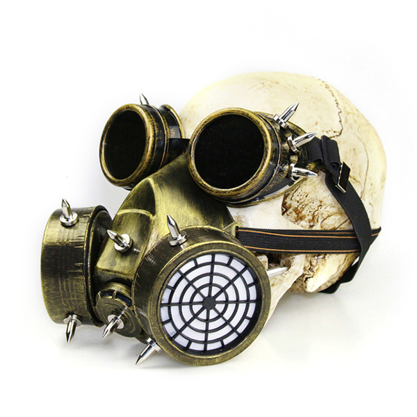 Cat Mask Steampunk Cosplay Mask Black and Gold with Miniature Hat