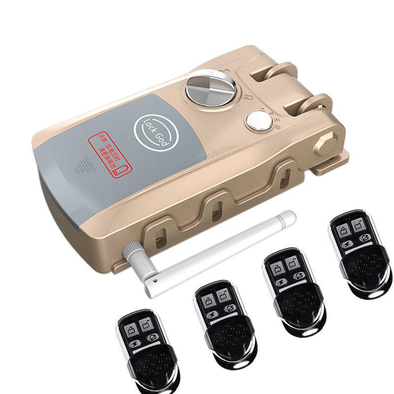 HXQ920 Wireless Smart Electronic Door Lock APP Phone Control Remote Control Invisible Lock Home Security - CHAMPAGNE GOLD