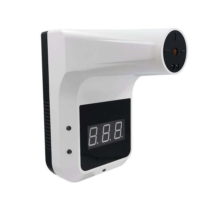 Q3 Medical Grade Wall-mounted Infrared Sensor Non-contact Forehead Thermometer - WHITE