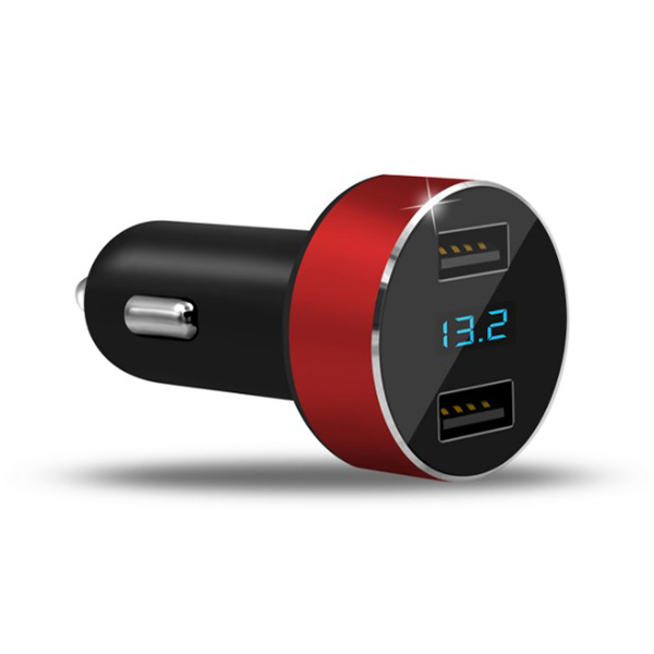 HY36 Car Mobile Phone Charger 3.1A Dual USB Fast Charging Digital Display
