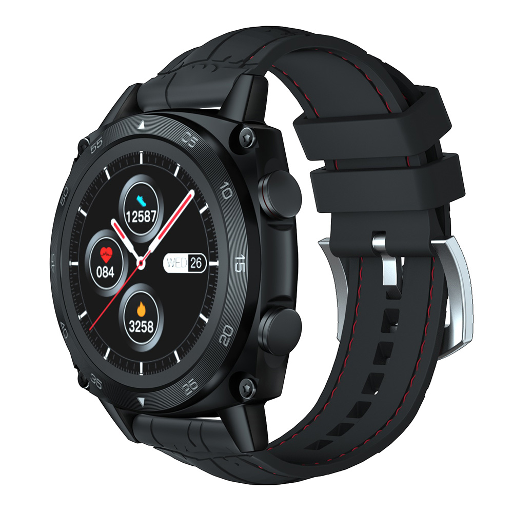Cubot C3 Smart Watch Sport Heart Rate Sleep Monitor 5ATM WaterProof Touch Fitness Tracker Smart Watch for Men Women Android iOS - Black