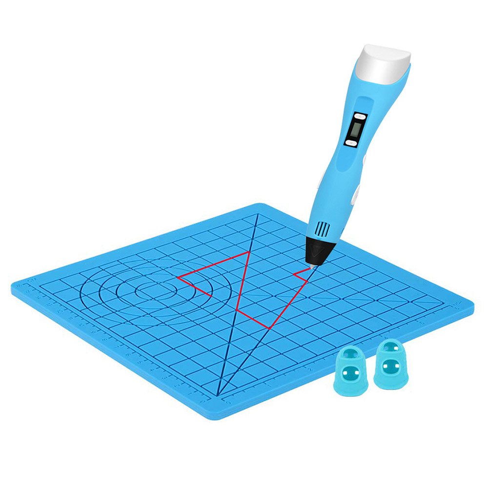 Alfawise 3D Printing Pen Silicone Design Mat DIY Creative Drawing Template Pat with Anti-heating Finger Cover