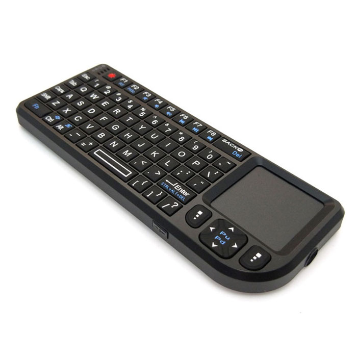 E221 2.4GHz Wireless Mini Keyboard Portable Waterproof with Touchpad Multimedia Conference Handheld Multifunctional Keyboard for Laptop Computer Smart TV Box